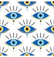 conceptual blue evil eyes symbols pattern vector image vector image