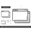 Copy tab line icon vector image vector image