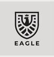 eagle shield logo icon vector image