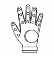 Electronic glove icon outline style vector image vector image