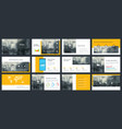 elements infographics for presentations vector image vector image