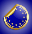 europe union sticker vector image