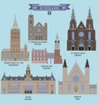 famous places in netherlands vector image vector image
