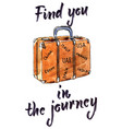 find you in journey hand drawn vector image