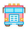 fire department truck icon outline vector image vector image