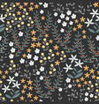 floral seamless pattern with abstract flat vector image vector image