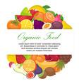 fruit organic for farm market banner vector image vector image