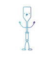 frying square spatula cartoon in degraded blue vector image vector image