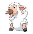 happy cartoon sheep vector image
