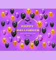 happy halloween card with colorful balloons vector image vector image