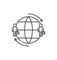 international team line icon concept vector image vector image