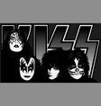 kiss dynasty vector image vector image