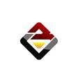 letter bv diamond vector image
