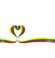 lithuanian flag heart-shaped ribbon vector image