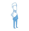 man doctor avatar standing character vector image vector image