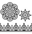 mandala bohemian art and indian seamless pattern vector image