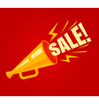 megaphone sale vector image vector image