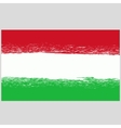 National Hungary Grunge Flag vector image