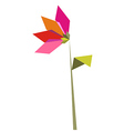 One Origami vibrant colors flower vector image vector image