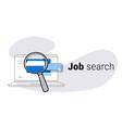 online computer application job search concept vector image