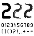 original font numbers - easy apply any stroke vector image vector image