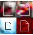 paper icon on blurred background vector image vector image