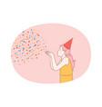 party birthday celebration festive costume vector image vector image