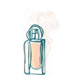 perfume line art sketch outline isolated design vector image