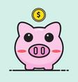 pig bank cartoon vector image vector image