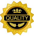 quality gold badge vector image vector image