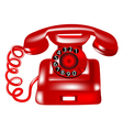 rotary dial telephone vector image