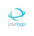 round globe logo vector image vector image