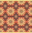 seamless hand drawn mandala pattern vector image