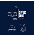 Set of logos for a diving club vector image vector image