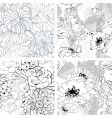 set of monochrome seamless wallpaper vector image vector image