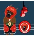 Set Symbols Boxing vector image vector image