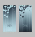 set vertical banners with magnolia branches vector image