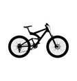 silhouette full suspension mountain bike vector image