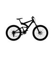 silhouette full suspension mountain bike vector image