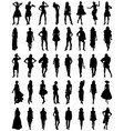 silhouettes of fashion vector image vector image