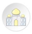 Taj Mahal icon cartoon style vector image vector image