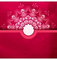 Template greeting card or invitation with red vector image vector image