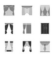 textiles curtains drapes and other web icon in vector image
