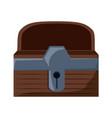 treasure chest box design vector image vector image
