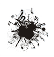 twisted music motes vector image