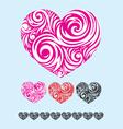 Heart ornate vector image