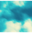 Blue Sky With Clouds Pattern Nature Background vector image