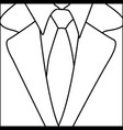 figure suit with elegant tie icon vector image