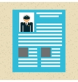 professional resume design vector image