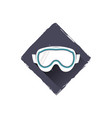 snowboard glasses logo design symbol stock vector image